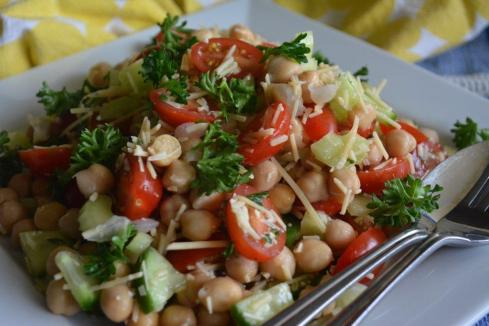Gluten-free chickpea and parmesan salad