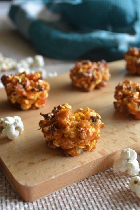 Gluten-free apricot popcorn clusters
