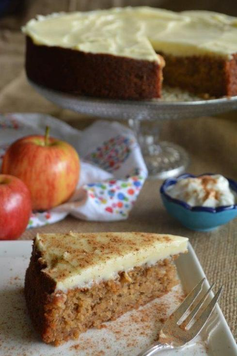 Gluten-free apple yoghurt cake with chai spices